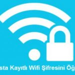 Wifi şifresi öğrenmek